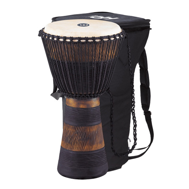 Meinl African Style Rope Tuned Djembe 13 in. Extra Large + Bag, Earth Series