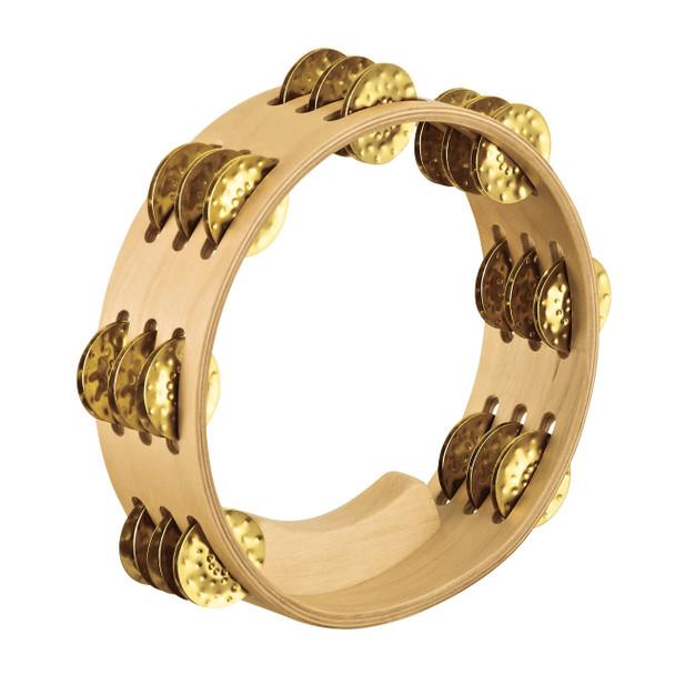 "Meinl Artisan Compact 8"" Tambourine Hammered Brass Jingles"