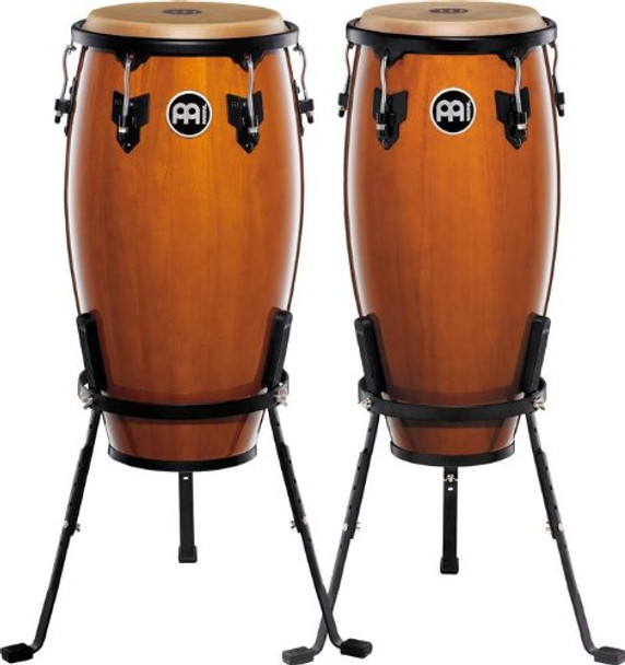 Meinl Headliner Wood Congas 10 in. & 11 in. Set, Incl. Basket Stands Maple