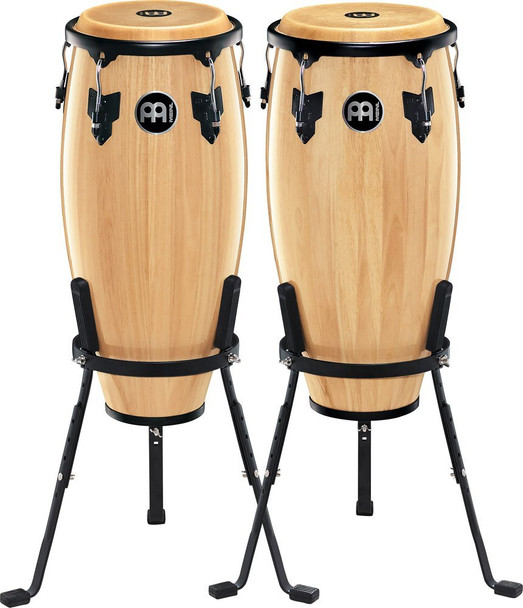 Meinl Headliner Wood Congas 10 in. & 11 in. Set, Incl. Basket Stands Natural