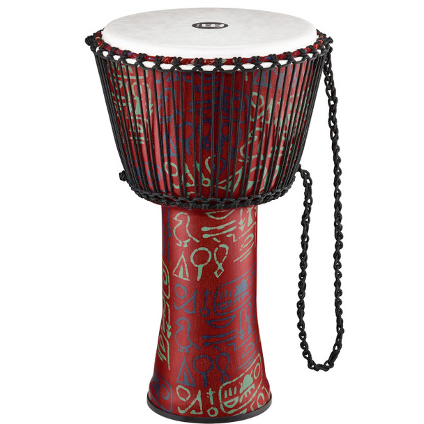 Meinl Travel 14 In. Pharaoh's Script Rope Tuned Djembe w/ Synthetic Head