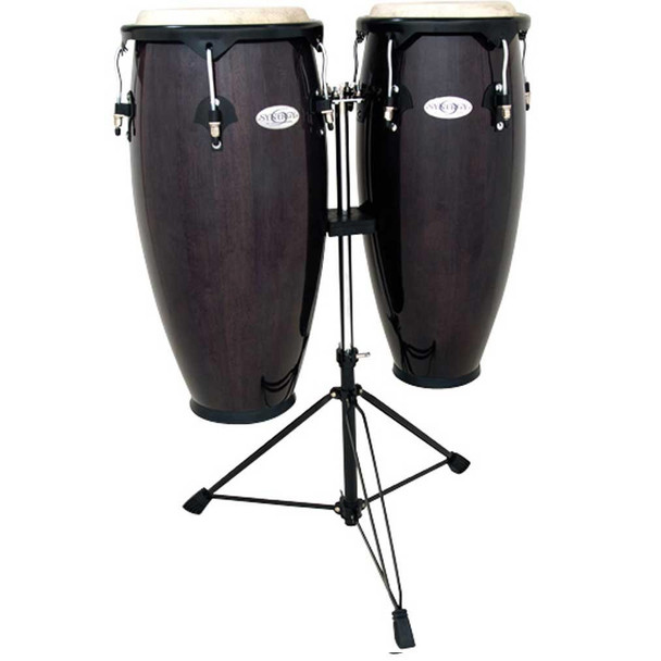 Toca 2300TB Synergy Series Conga Set with Stand - Transparent Black