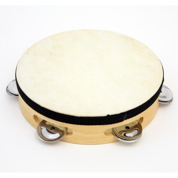 "7"" Tambourine Wood Tambourine with - 5 (pr) Jingles."