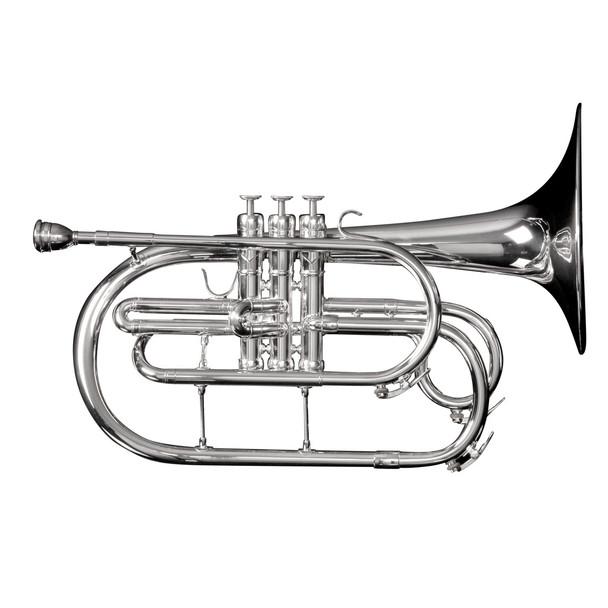 Adams Marching Mellophone w/ Case, Silver