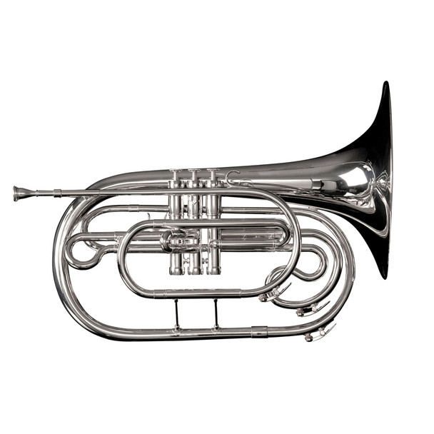 Adams MF1S Marching French Horn w/ Case, Silver