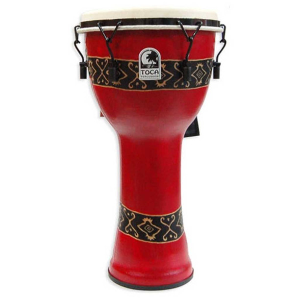 Toca Bali Red Mechanically Tuned Djembe, 12""