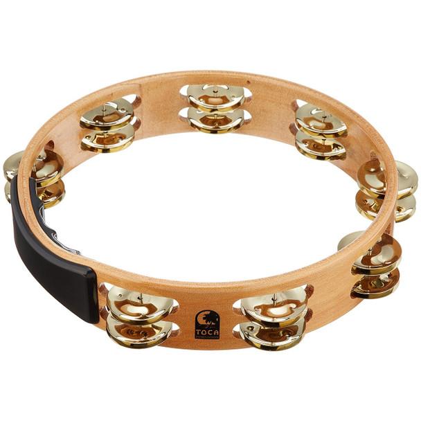 Toca Acacia Tambourine With Brass Jingles 10 Inch