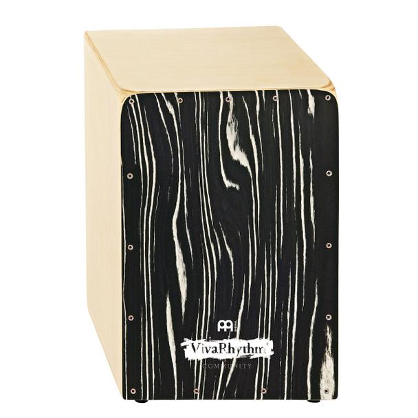 Meinl VivaRhythm VR-CAJ-SO Birch Wood Snare Cajon with Fixed Internal Snares, Striped Onyx Finish