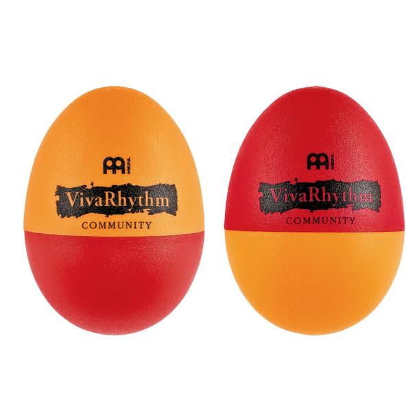 Meinl VivaRhythm VR-ES2 Plastic Egg Shaker Pair, Red/Orange