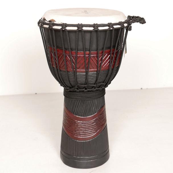 Scratch 'n Dent: X8 Drums Red Black 10 in. Djembe #0531-1