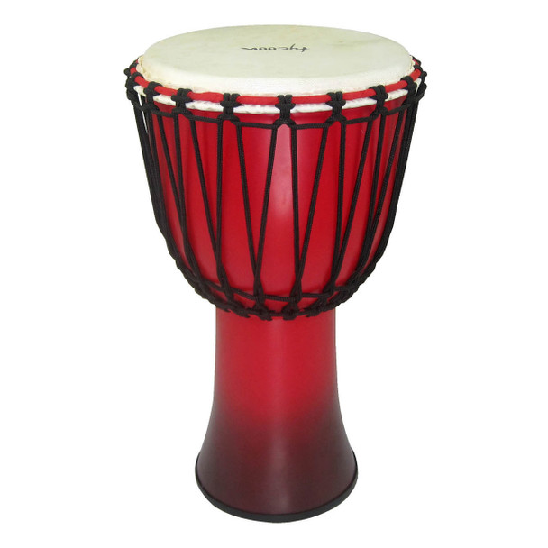 Tycoon 10‰Û_ Fiberglass Djembe ‰ÛÒ Rope Tuned Black & Red Finish