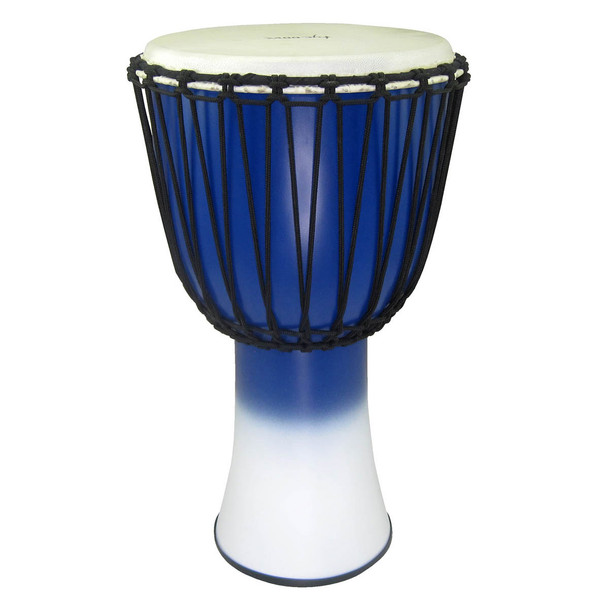 Tycoon 12‰Û_ Fiberglass Djembe ‰ÛÒ Rope Tuned Blue & White Finish