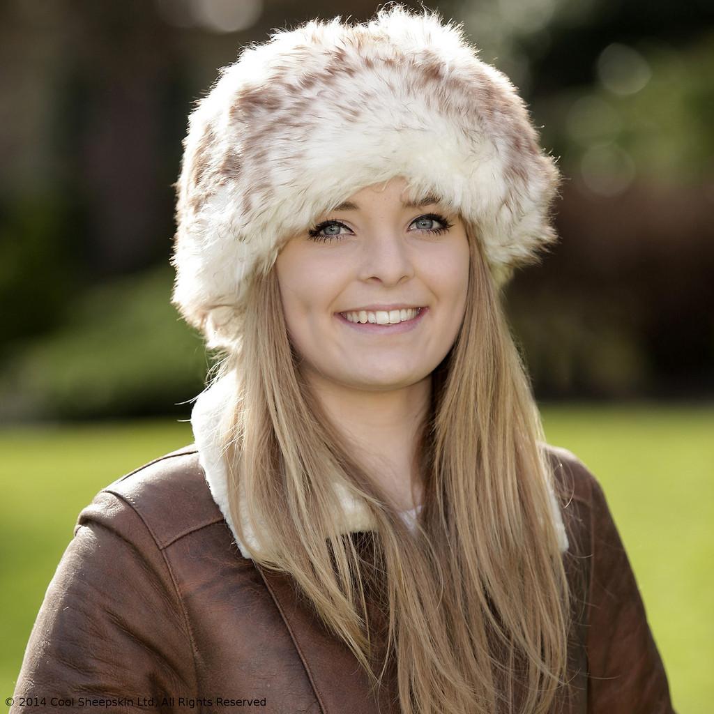 Ladies Sheepskin Cossack Hat - Kate (Brown)