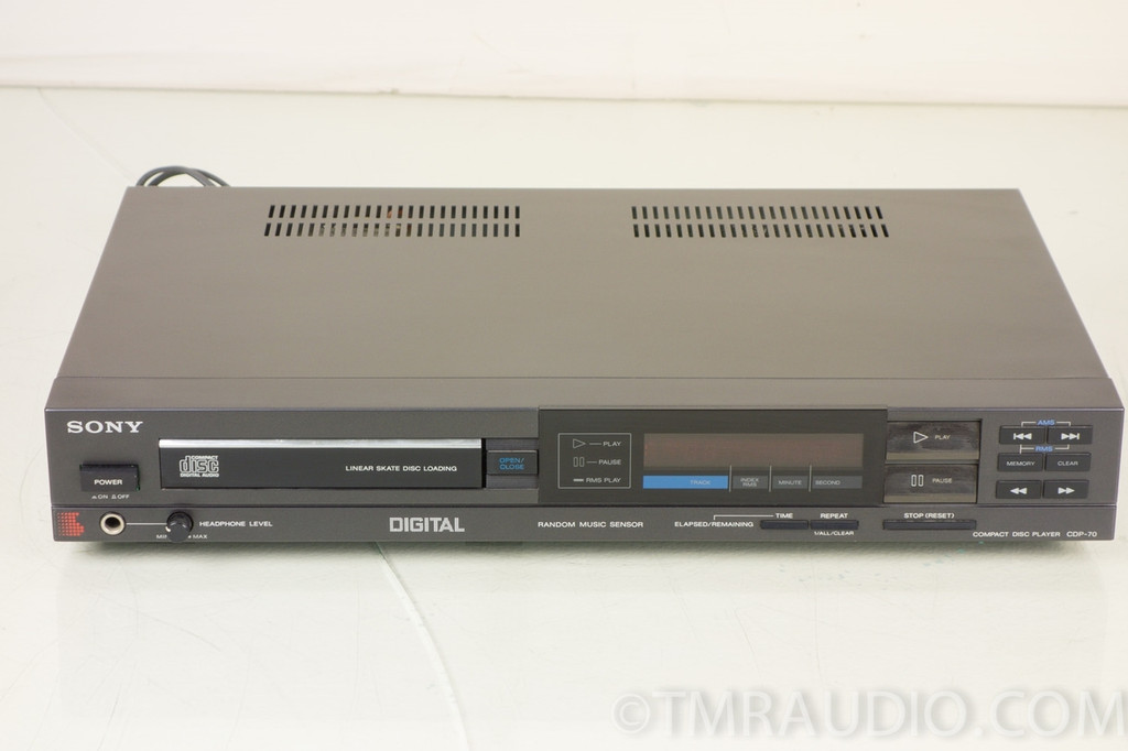Sony Compact Disc Player Cdp 70 Single Disc Cd Player