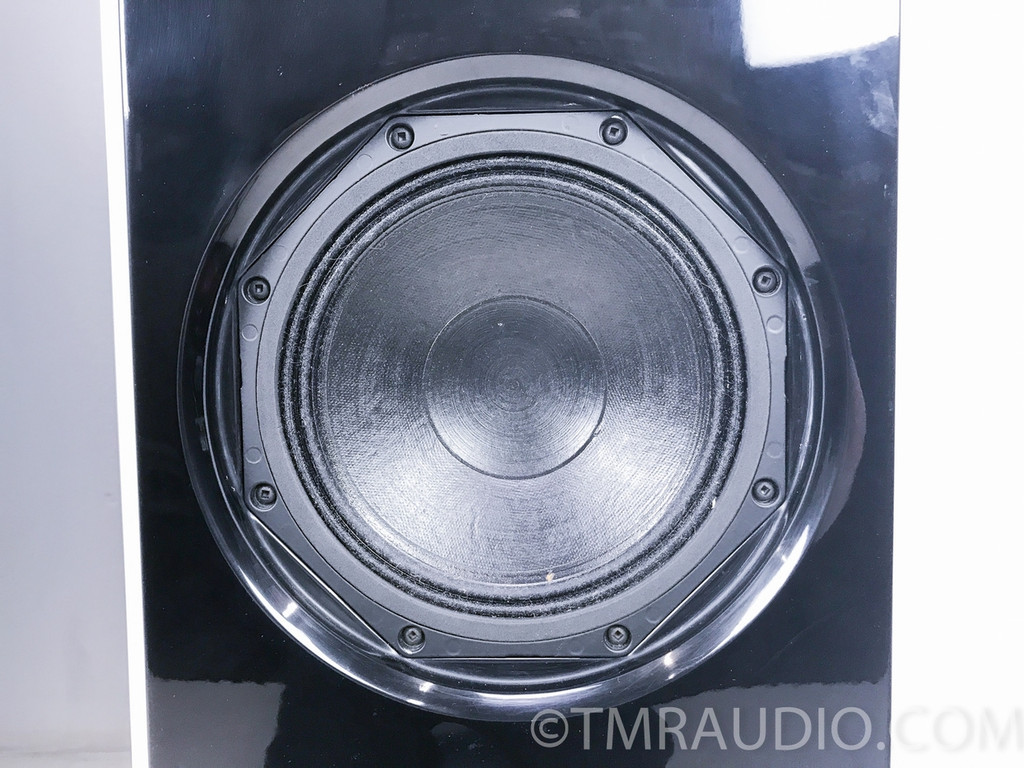 Sunny Cable Technology H2W8 Speakers; Pair; White Horns