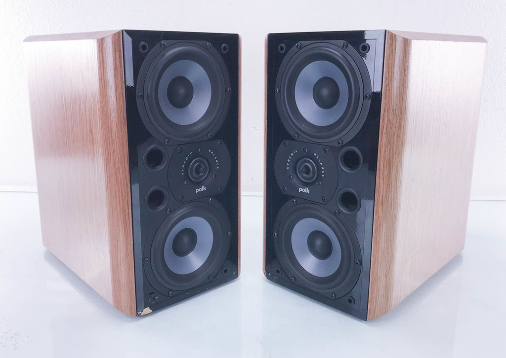 Polk Audio LSi9 Bookshelf Speakers; Cherrywood Pair