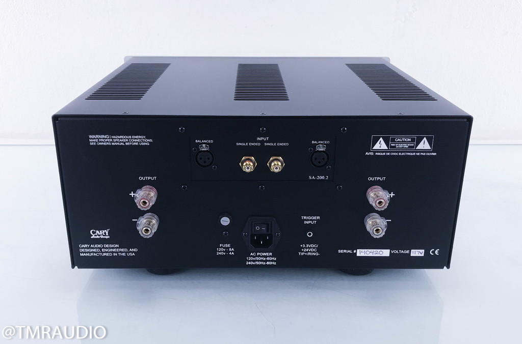 Cary Audio SA-200.2 Stereo Power Amplifier; Silver