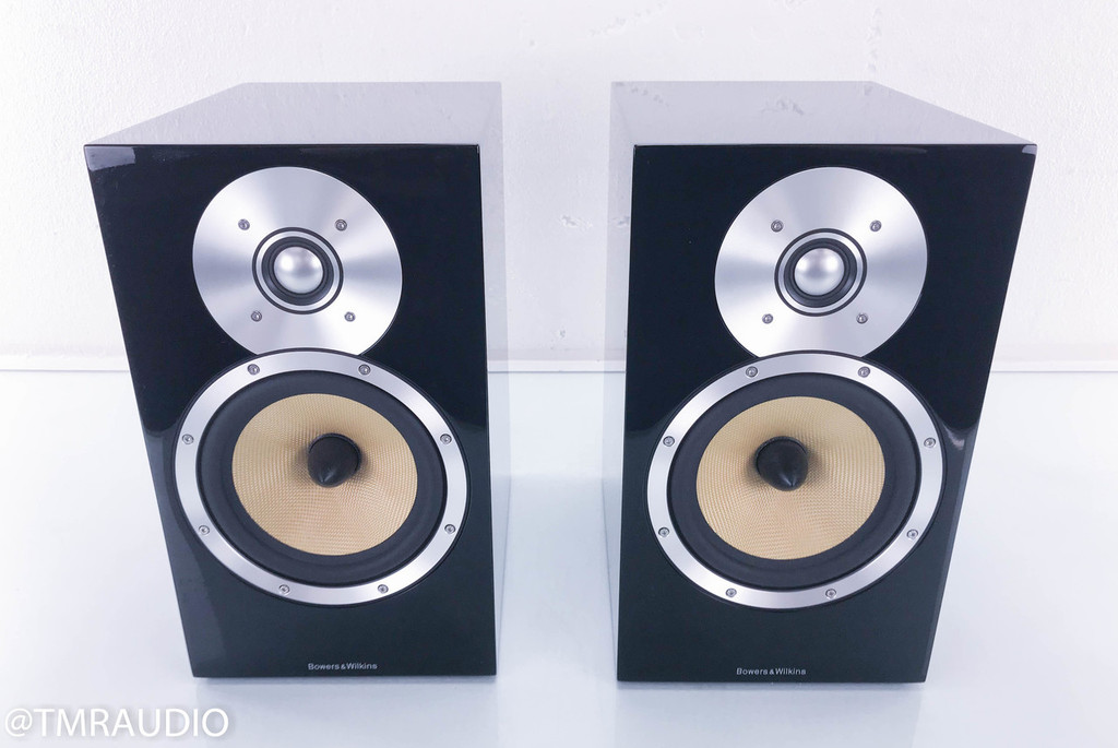 B&W CM5 Bookshelf Speakers; Gloss Black Pair