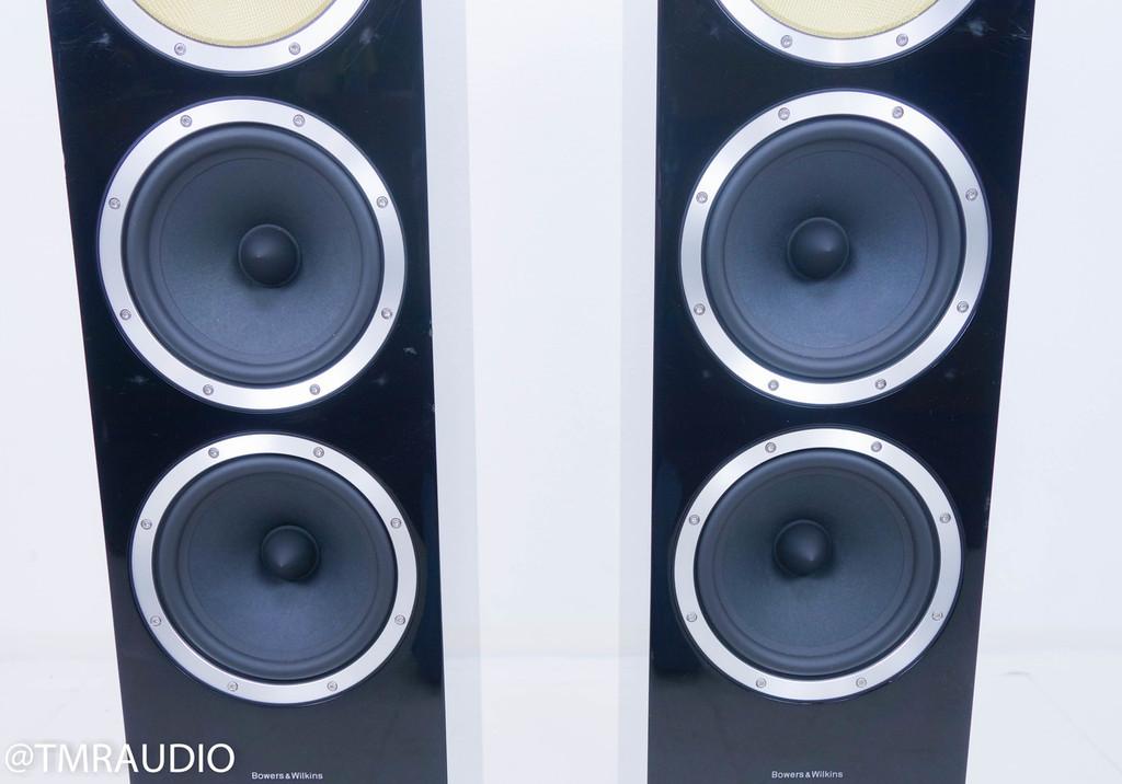 B&W CM9 Floorstanding Speakers; Piano Black Pair