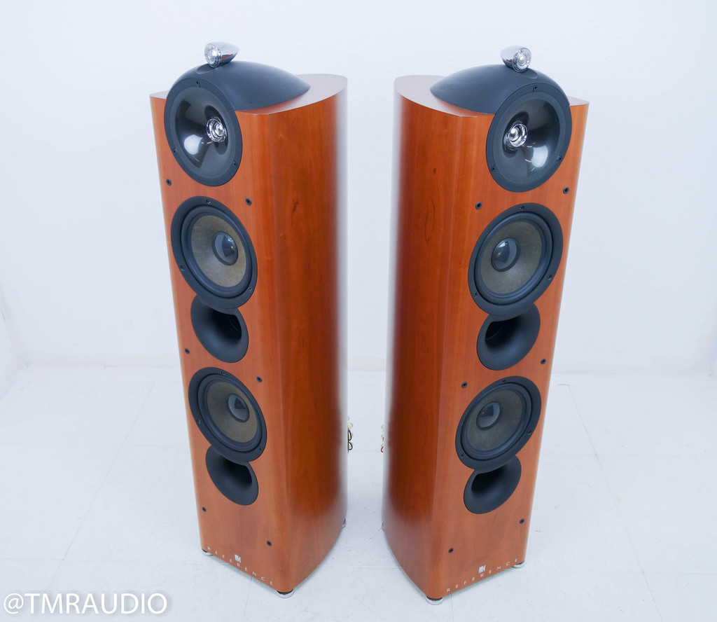 KEF Reference 205 Floorstanding Speakers; Cherry Pair