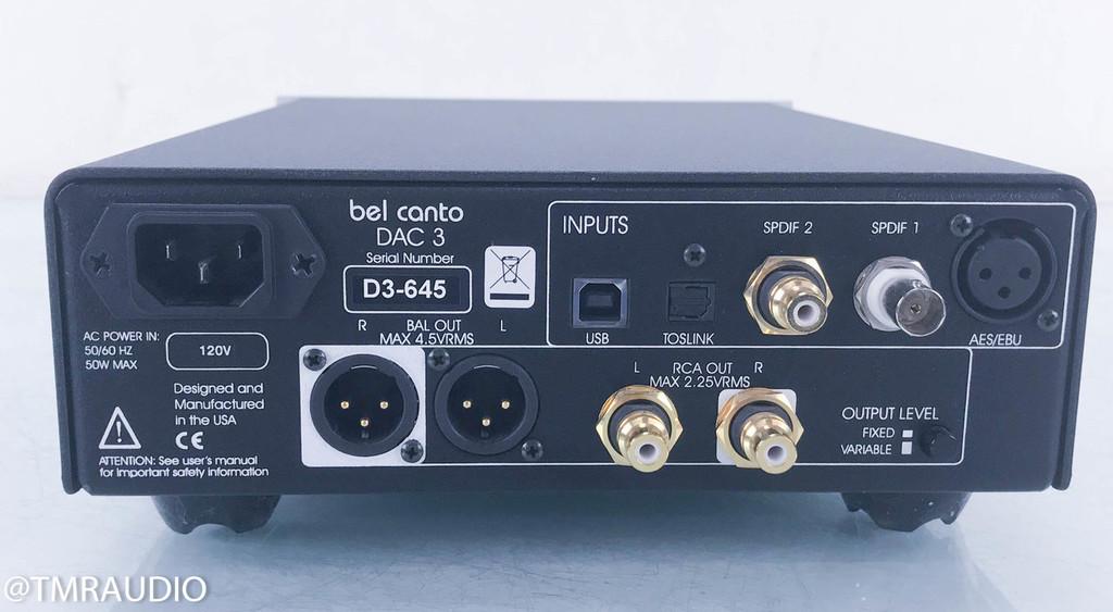 Bel Canto e.One DAC3 DAC / Preamplifier; D/A Converter (NO REMOTE)