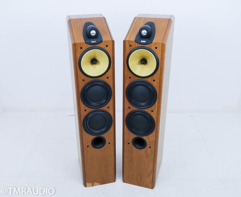 B&W CDM-9NT Floorstanding Speakers; Cherrywood Pair; Bowers & Wilkins