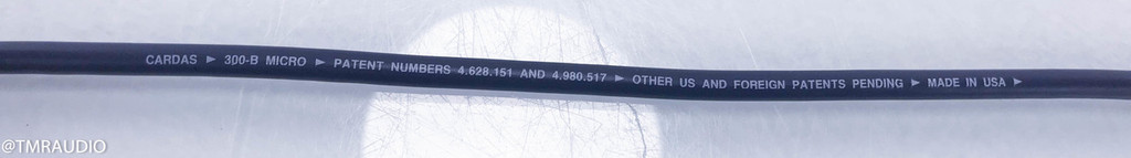 Cardas 300-B Micro RCA Cable; Single 1m Interconnect