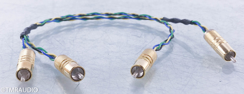 Corpse Cable Earth Rocker RCA Cables; .5m Pair Interconnects