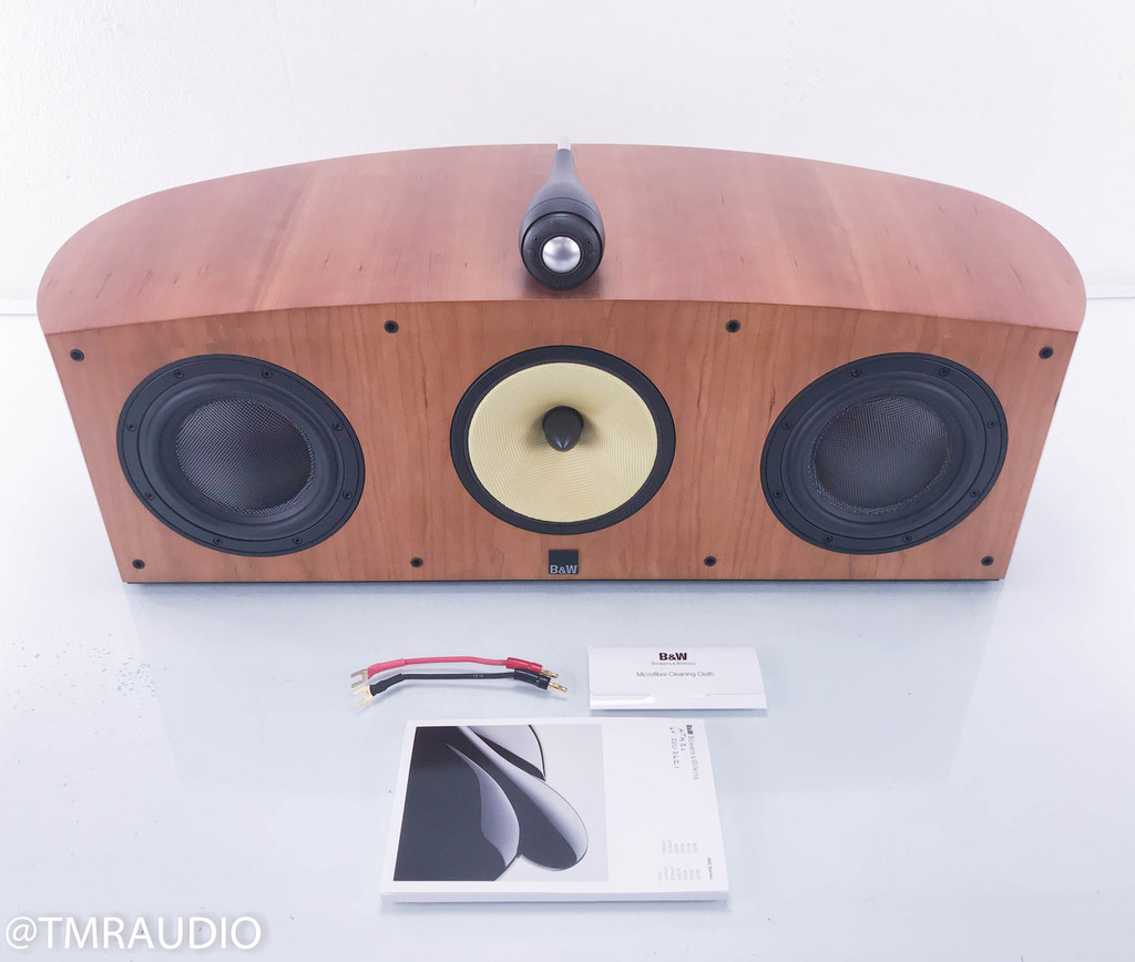 B&W HTM3s Center Channel Speaker; Cherrywood; Bowers & Wilkins HTM3-S