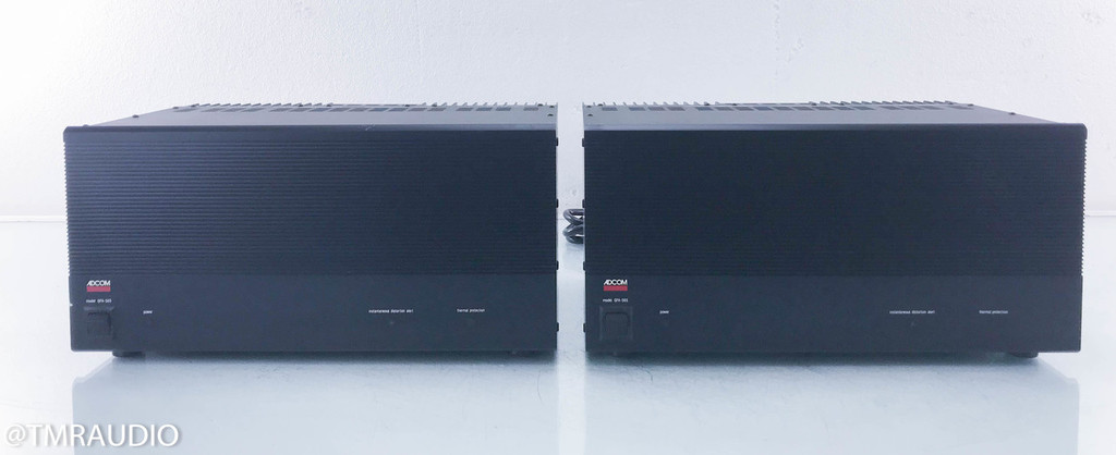 Adcom GFA 565 Mono Power Amplifiers; Pair (AS-IS, DC on Ouputs)