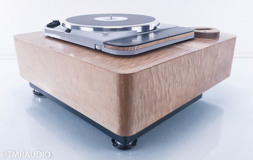 Thorens TD 124 MKII Vintage Turntable w/ Custom Plinth (No Cartridge/Tonearm)