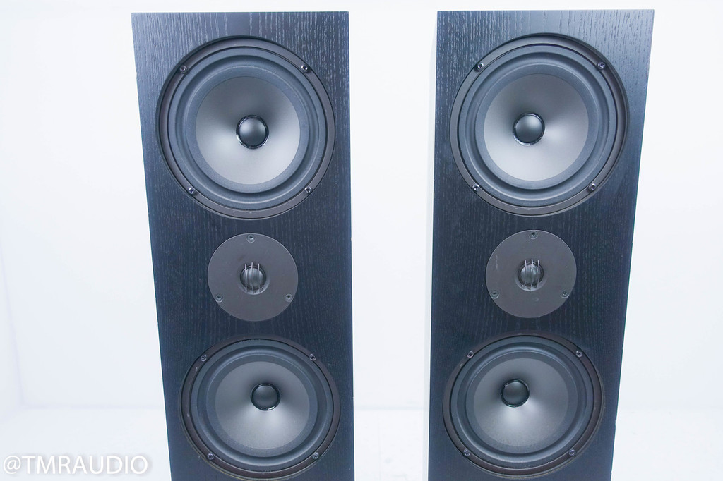 Linn Ninka Floorstanding Speakers; Black Pair; Single Wire Passive