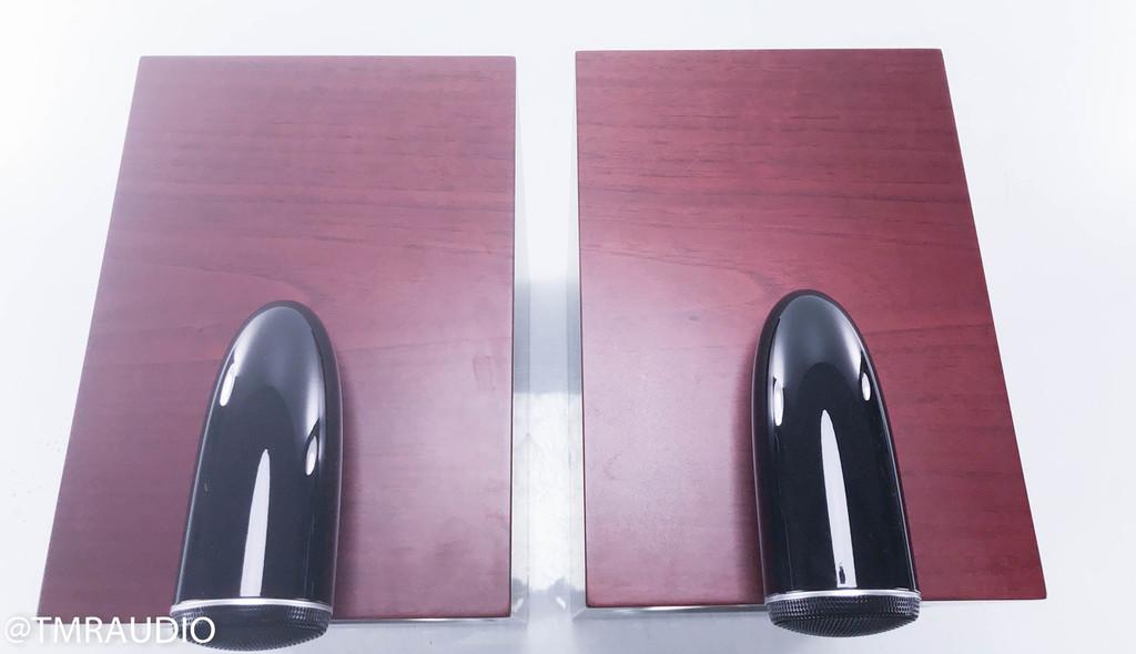 B&W CM6 S2 Bookshelf Speakers; Rosenut Pair w/ Stands