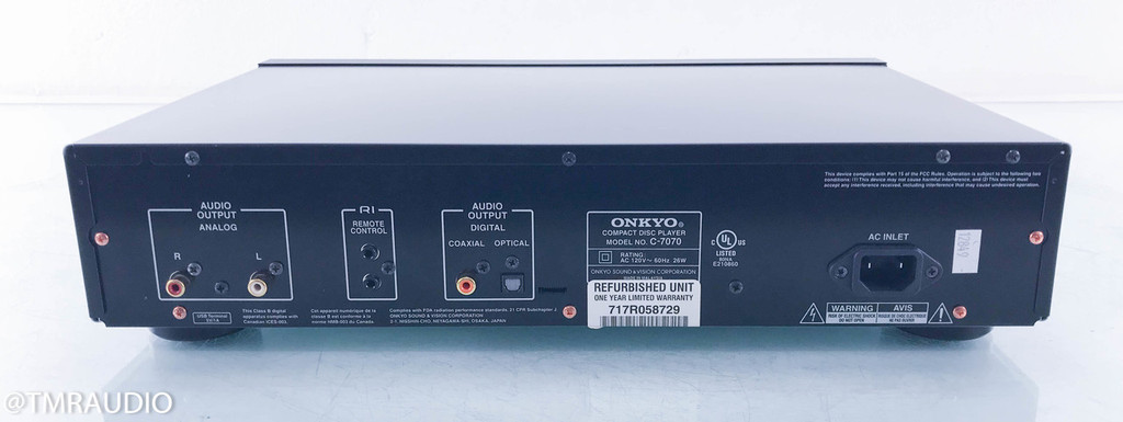 Onkyo C-7070 CD Player; AS-IS (Doesn't Read Discs)
