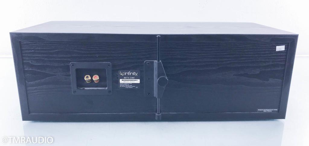 Infinity Beta C360 Center Channel Speaker; Ash Black; C-360
