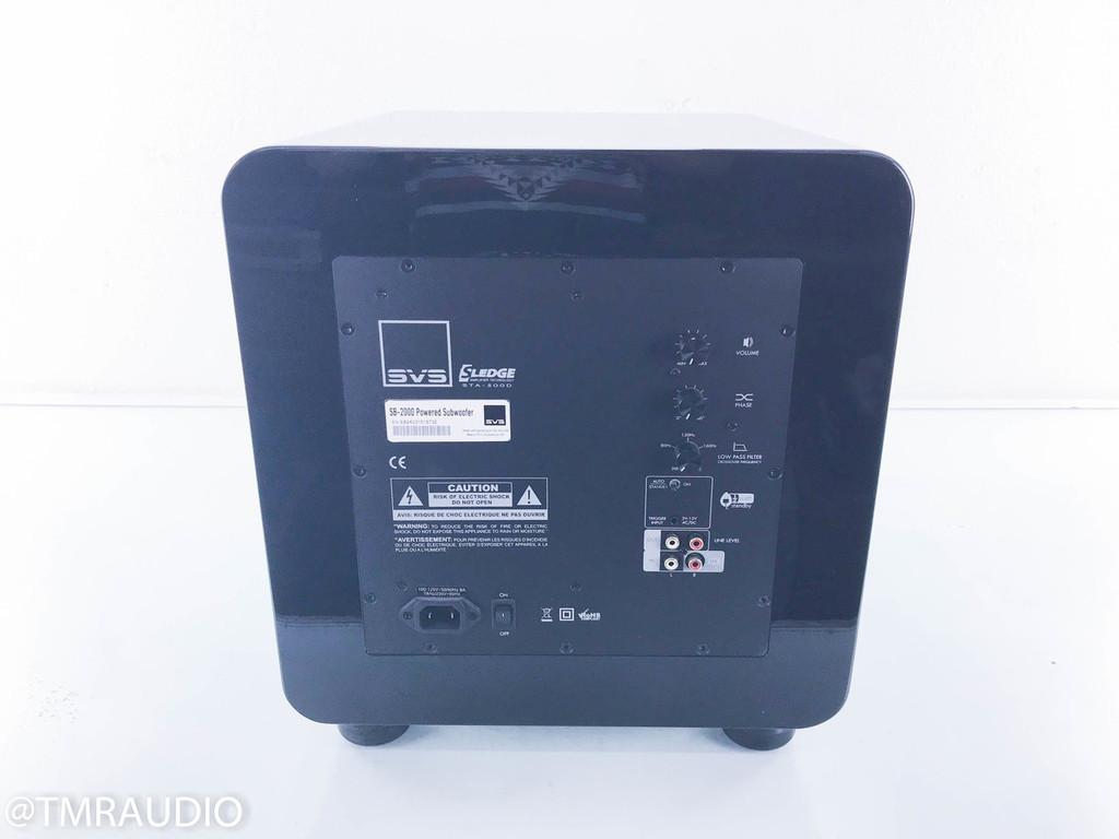 "SVS SB-2000 12"" Powered Subwoofer; Piano Gloss Black; SB2000"