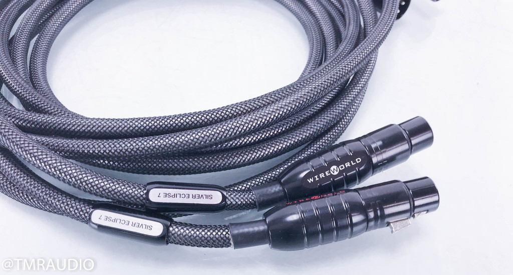 Wireworld Silver Eclipse 7 XLR Cables; 3m Pair Balanced Interconnects