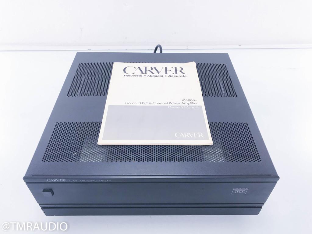 Carver AV-806x 6 Channel Power Amplifier; Black