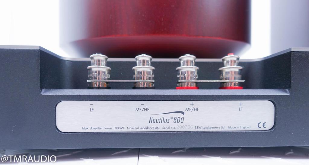 B&W Nautilus 800 Floorstanding Speakers; Red Cherry Pair