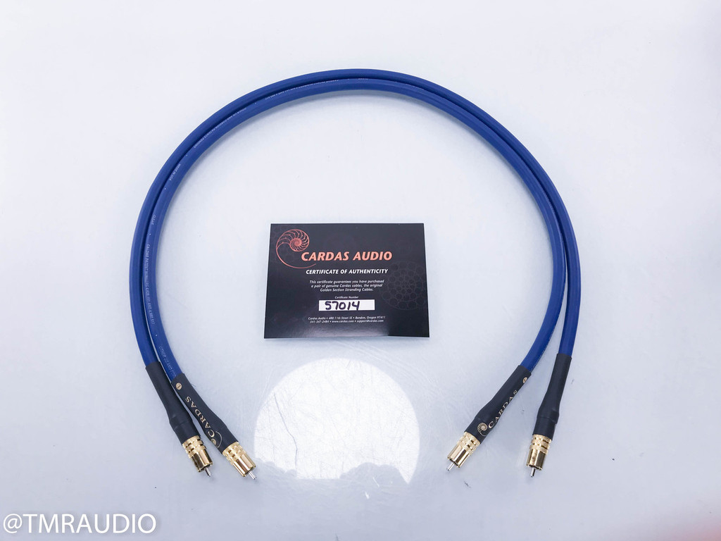Cardas Clear RCA Cables; 1m Pair Interconnects (New)