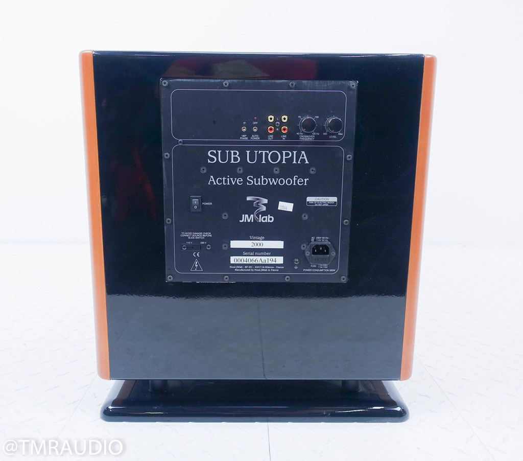 """Focal Sub Utopia 15"""" Powered Subwoofer; Cherry (No Volume Control) (2/2)"""