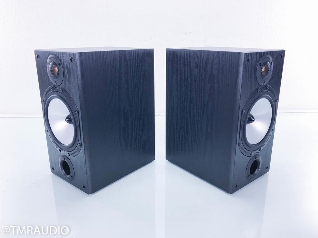 Monitor Audio MR2 Bookshelf Speakers; Black Oak Pair; Monitor Reference 2