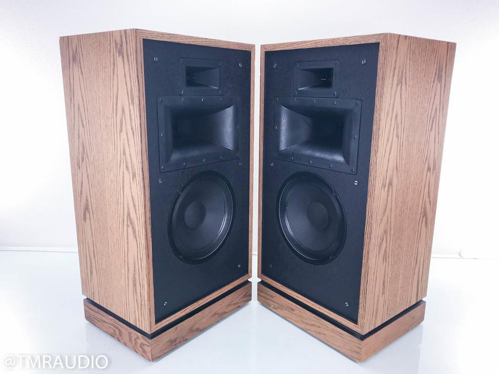 Klipsch Quartet Vintage Floorstanding Speakers; Oak Pair