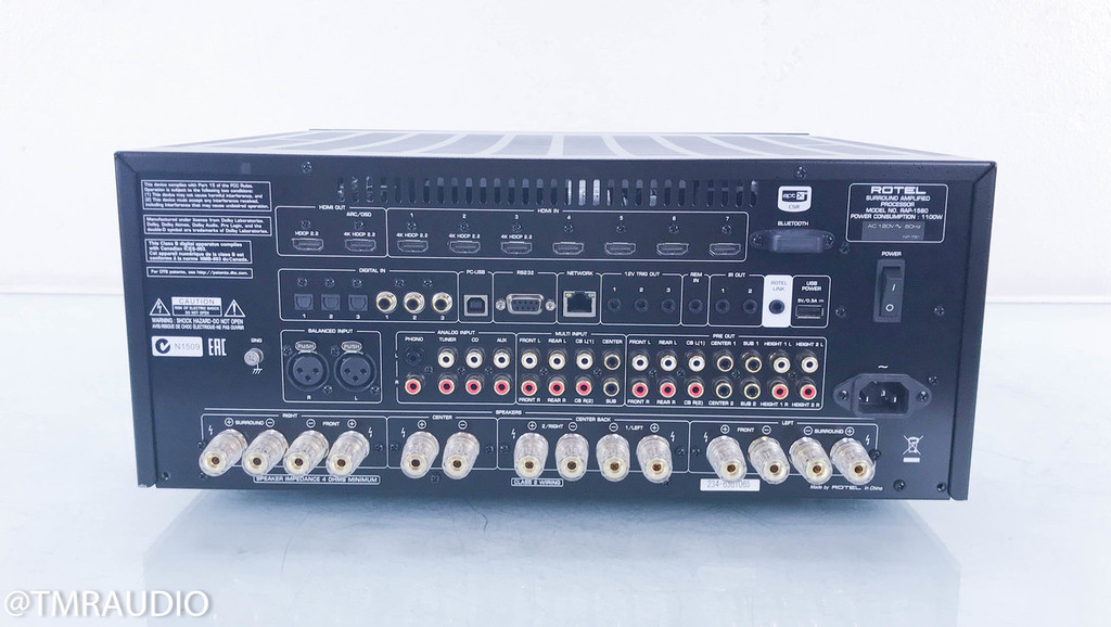 Rotel RAP-1580 7.1 Channel Home Theater Receiver; RAP1580