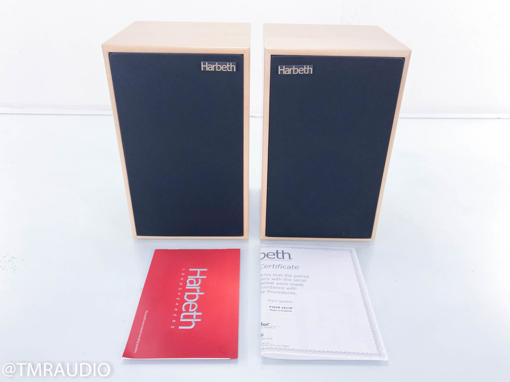 Harbeth P3ESR SE Bookshelf Speakers; Special Edition Monitors; Maple Pair P3-ESR