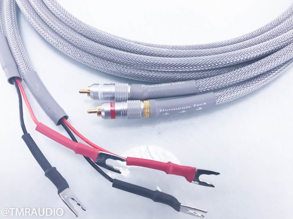 Harmonic Tech Precision Link RCA to Spade Cables; 3m Pair Custom Interconnects