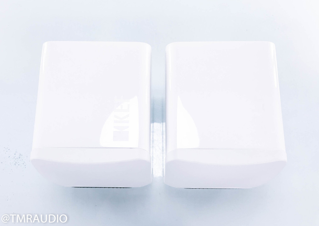 KEF LS50 Bookshelf Speakers; White Pair; Blue Uni-Q Driver