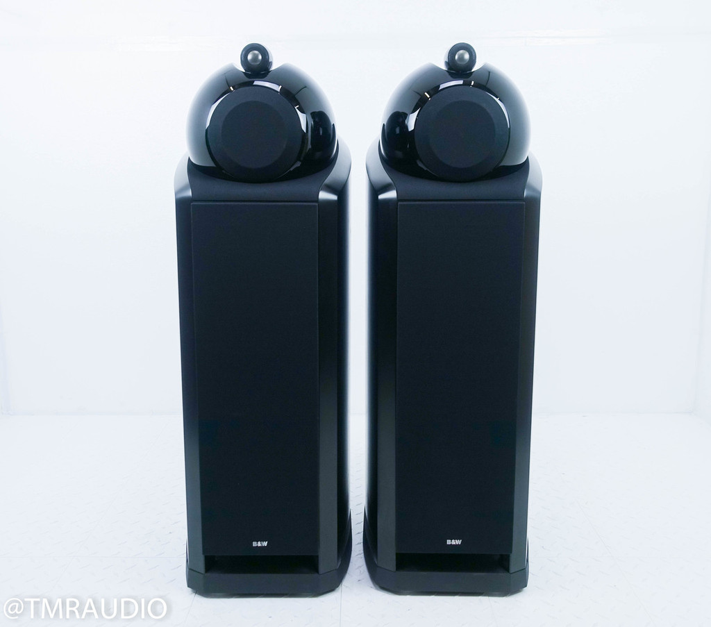 B&W Nautilus 802 Floorstanding Speakers; Black Ash Pair