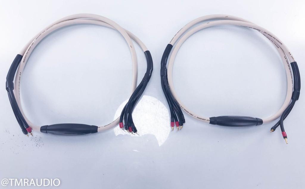 Transparent Audio MusicWave Plus Biwire Speaker Cables; MM1; 8ft Pair