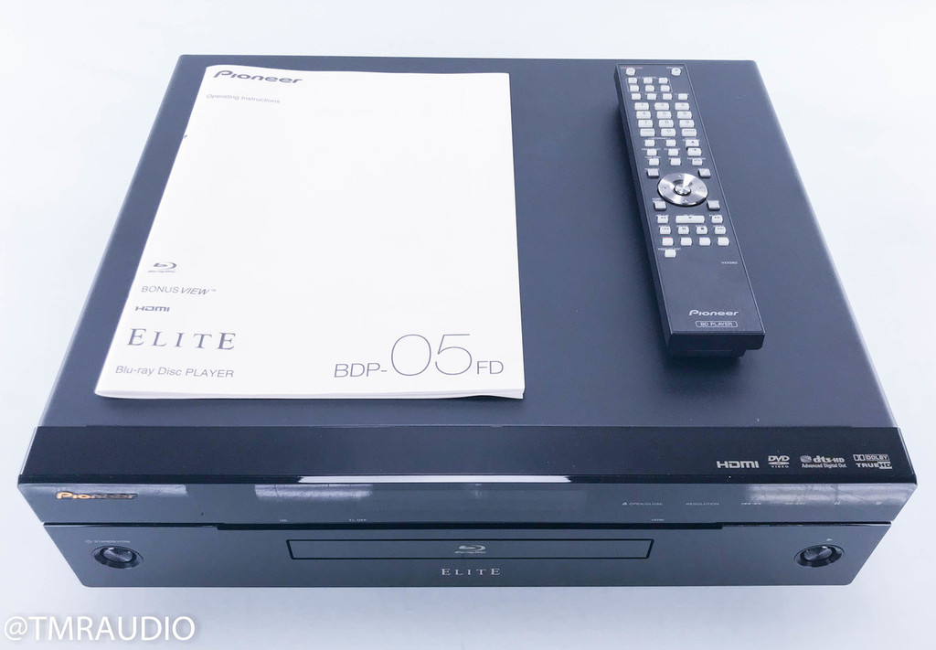 Pioneer Elite BDP-05FD Blu-Ray / DVD / CD Player; Remote (2/2)